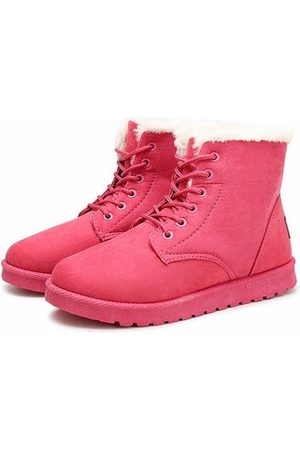 Newchic Women Snow Boots - Warm Lace Up Boots