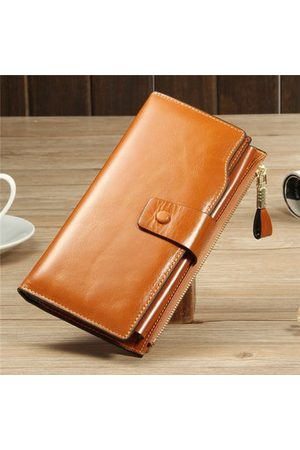 Newchic RFID Retro Genuine Leather Long Wallet