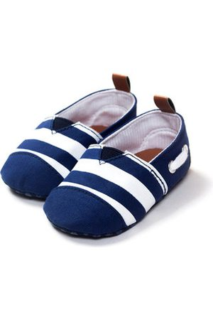 60aac9ddc9e6 Newchic Canvas Stripe Slip On Flat Casual Pre-Walking Shoes For Baby