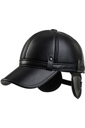 Newchic Men Cowhide PU Leather Baseball Cap