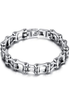 Newchic Men Bracelets & Bangles - Punk Bike Chain Bracelet Rock Motorcycle Bike Stainless Steel Chain Bracelet