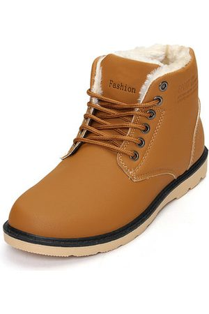 Newchic Men Warm Plush Lining Winter Ankle Boots