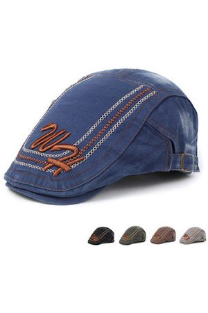 Newchic Mens Cotton Letter Embroidery Beret Hat