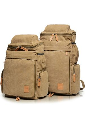 Newchic Men Canvas Casual Shoulder Bag Outdoor Travel Sports Backpack