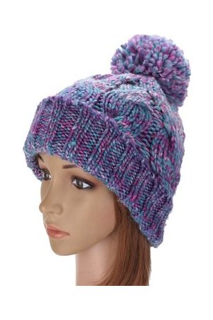 Newchic Lovely Winter Warm Women Knit Crochet Beanie Hat Ball Wool Cuff Ski Cap