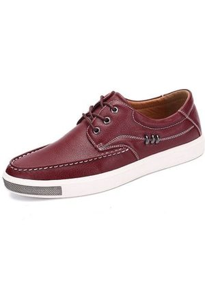 Newchic Men Casual Shoes - Men's Metal Decoration Flat Lace Up Trainers Casual Oxfords