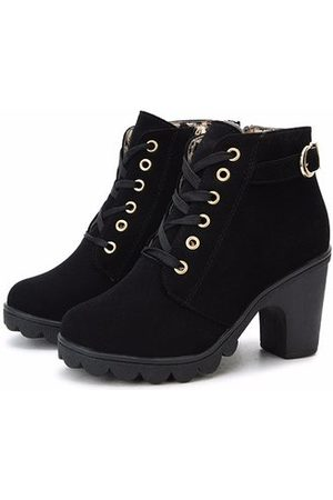 Newchic Pu Lace Up Knight Boots
