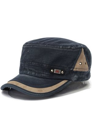 Newchic Vintage Washed Military Army Flat Cap For Men