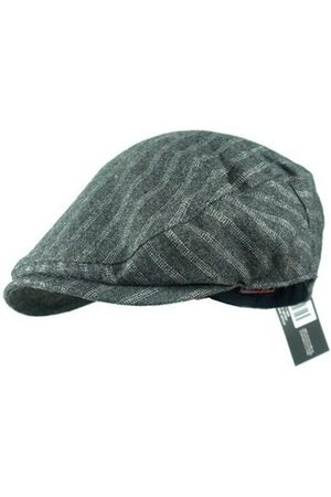 Newchic Men Caps - Men's Stripe Golf Driving Flat Cabbie Hat Newsboy Visor Sun Beret Cap