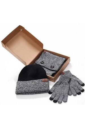 Newchic Men Hats - Knitted Warm Winter Three-piece Accessories