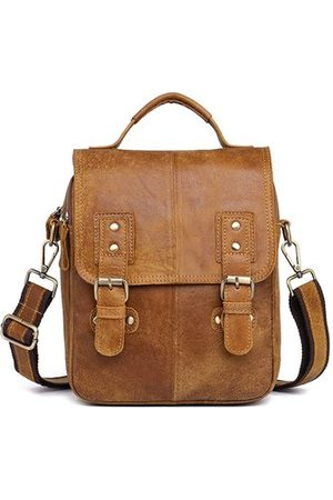Newchic Genuine Leather Business Crossbody Bag For Men