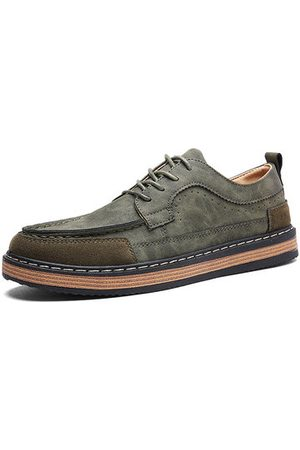 Newchic Men Casual Shoes - Men's Classic Moc Toe Color Blocking Lace Up Casual Oxfords