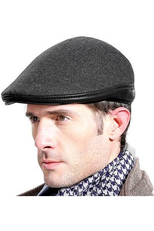 Newchic Men With Ear Flaps Windproof Beret Hat