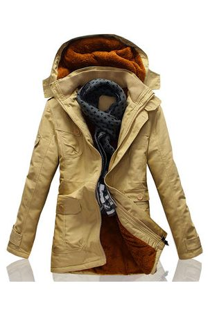 Newchic Men Winter Jackets - Mens Winter Casual Mid Long Cotton Overcoats