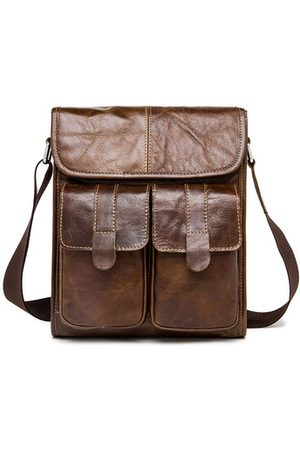Newchic Ekphero Vintage Genuine Leather Shoulder Bag For Men