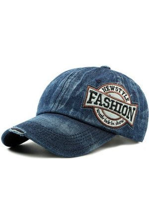 Newchic Men Caps - Men Washed Denim Baseball Cap Adjustable