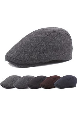 Newchic Mens Winter Warm Wool Blend Solid Beret Caps