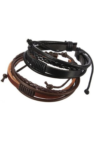 Newchic Men Bracelets & Bangles - Cow Leather Multilayer Bracelet