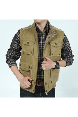 Newchic Men Outdoor Jackets - Plus Size Casual Outdoor Cotton Vests