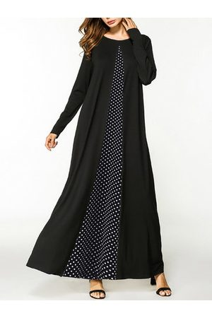 Newchic Women Casual Dresses - O-NEWE Polka Dot Stitching Maxi Dress