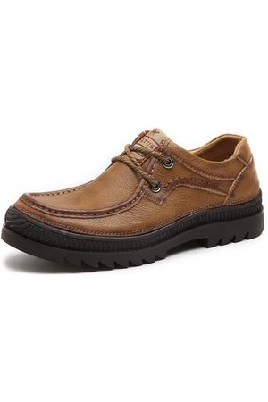 Newchic Men Casual Shoes - Men Outdoor Genuine Leather Wearable Casual Shoes