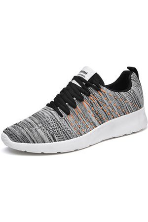 Newchic Men's Knitted Fabric Breathable Light Running Shoes