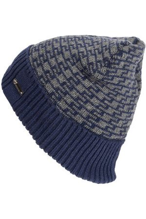 Newchic Men Hats - Men Winter Plus Velvet Geometric Pattern Knitted Hat