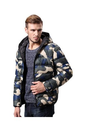 Newchic Men Winter Jackets - Winter Camo Printing Padded Jackets