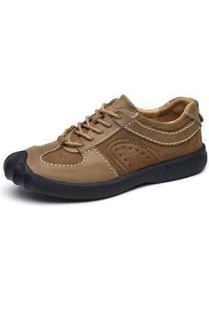 Newchic Men Casual Shoes - Men's Genuine Leather Splicing Outdoor Casual Shoes