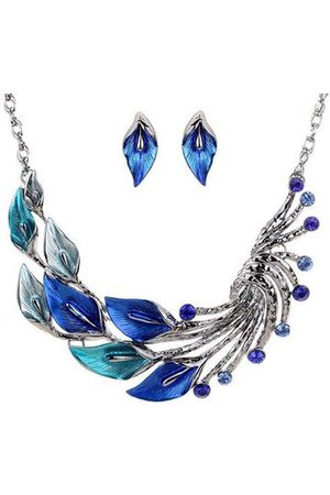 Newchic Women Jewellery Sets - Trendy Leaves Crystal Jewelry Sets