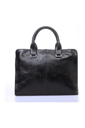 Newchic Men Casual PU Leather Laptop Business Handbag Leisure Shoulder Bag
