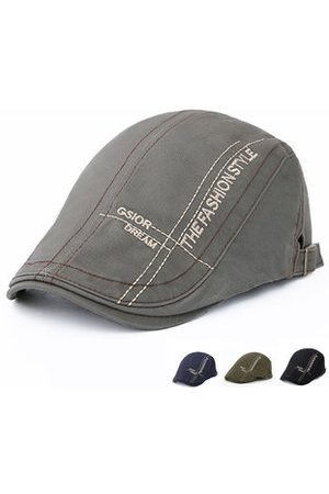 Newchic Men Cotton Lace-up Beret Caps