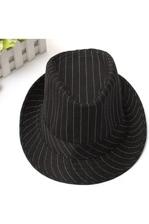 Newchic Chic Vintage Unisex Cotton Fedoras Trilby Hats Flat Top Roll Brim Bucket Jazz Caps