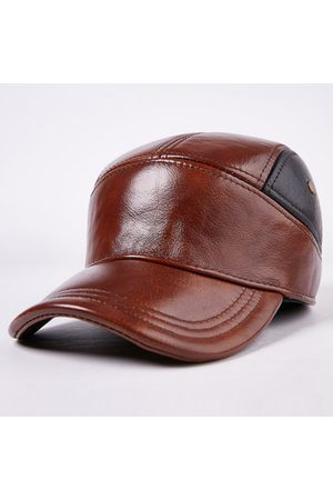 Newchic Cowhide Vintage Patchwork Baseball Cap