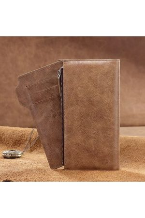 Newchic Genuine Leather Large Capacity Long Wallet For Men