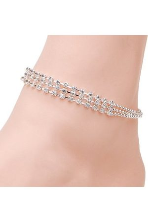 Newchic Women Anklets & Toe-rings - Casual Silver Crystal Anklet