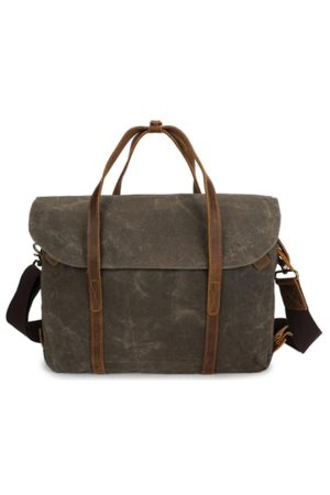 Newchic Ekphero 14 Inch Vintage Waterpoof Canvas Laptop Bag