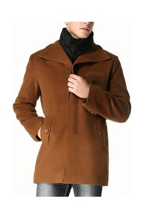 Newchic Men Trench Coats - Winter Warm Woolen Casual Coat