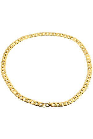 Newchic Golden Polished Stainless Steel Necklace