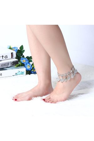 Newchic Antique Silver Charm Coin Beach Anklet