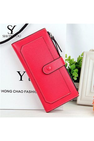 Newchic Women Bags - Women Elegant Long Candy Color Wallet Casual Cash Coins Cards Bags