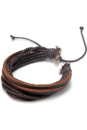 Newchic Multilayer Leather Woven Braid Rope Bracelet
