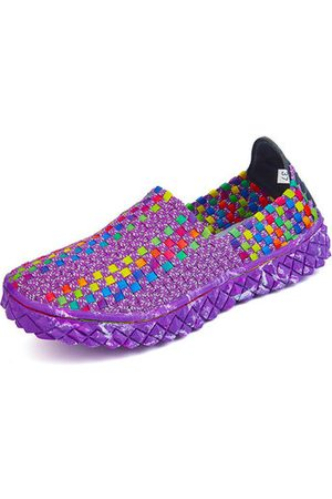 Newchic Women Shoes - Colorful Knitting Breathable Slip On Sport Shoes