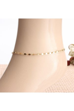 Newchic Simple Gold Plated Adjustable Anklet