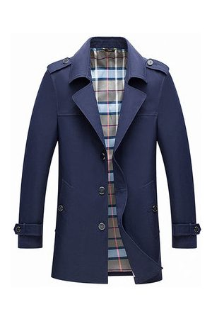 Newchic Men Trench Coats - Mens Business Casual Trench Coat