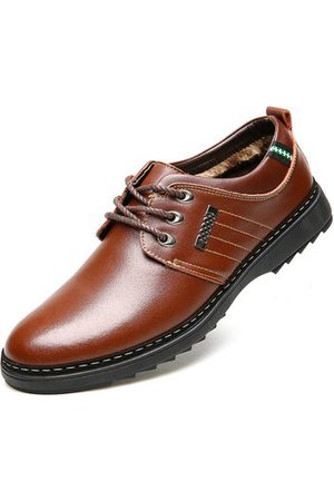 Newchic Men Formal Shoes - Men Warm Plush Lining Lace Up Oxfords