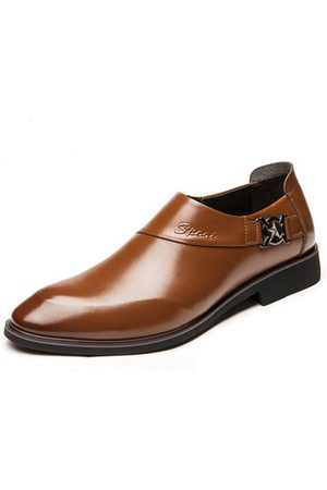 Newchic Men Pointed Toe Slip On Formal Dress Shoes