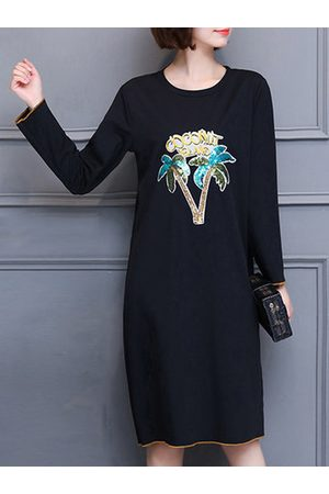 Newchic Casual Women Printed Straight Dress