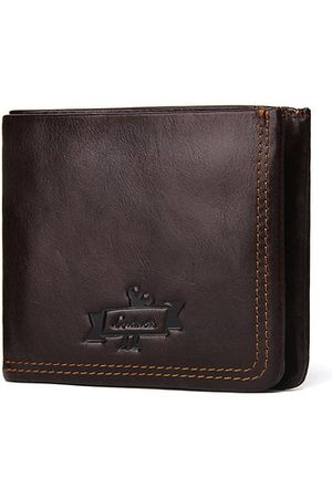 Newchic Genuine Leather Short Zipper Wallet Coin Bag For Men