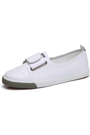 Newchic Girls Casual Shoes - Leather Velcro Casual Flat Shoes